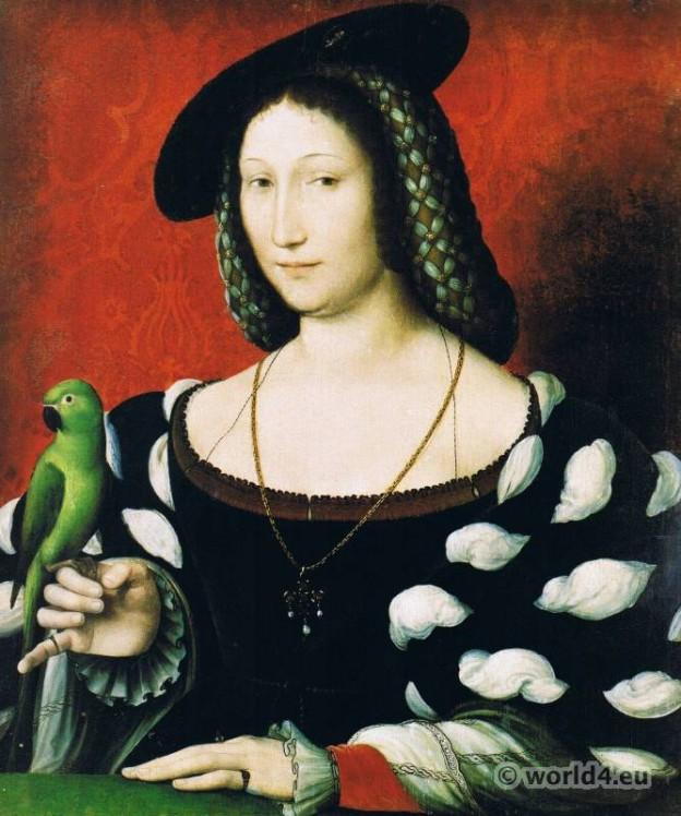 Marguerite, Navarre, Jean, Clouet, Renaissance, Costume, Adornment, Jewellery