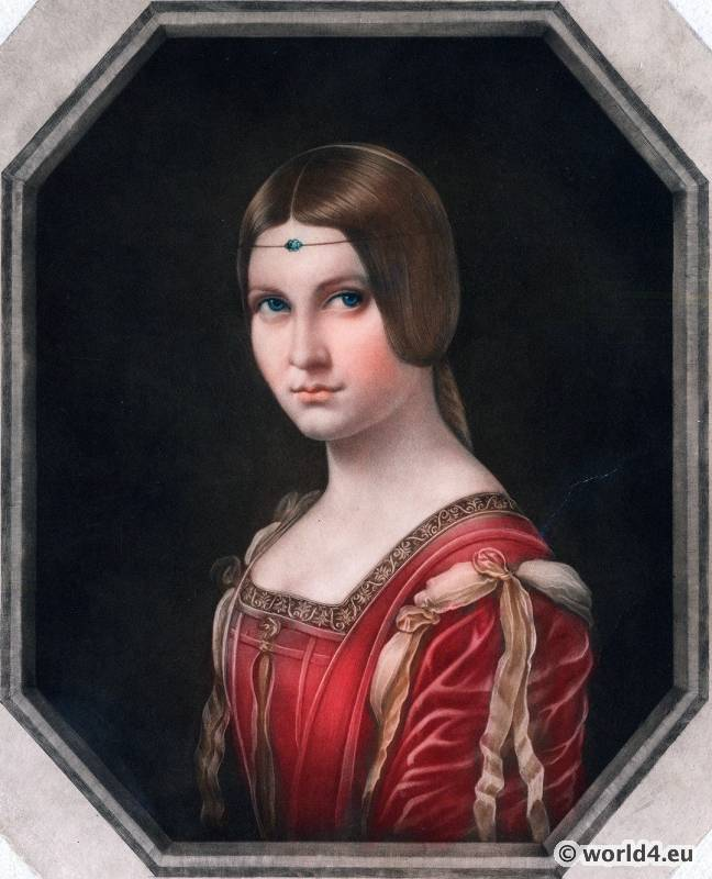 Belle, Ferroniere, Leonardo da Vinci, Renaissance, costume,