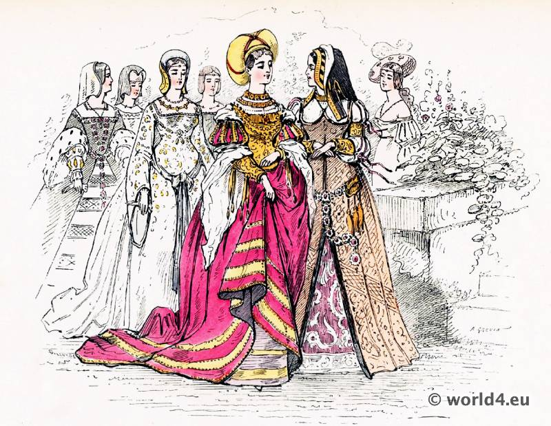 Renaissance, fashion history, nobility, costumes,