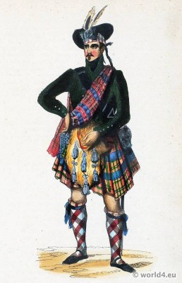 Chief, Scottish, Highlands, costume,Tartan, Kilt