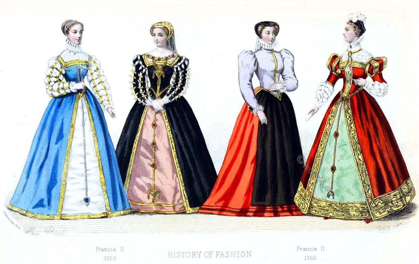 Fashion, history, Renaissance, Spanish, court dress, Francis II