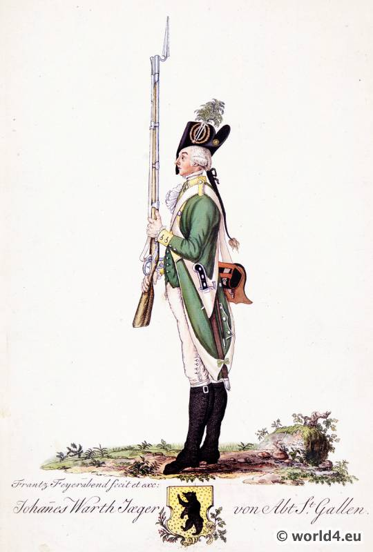 Switzerland military uniform. Shooter Department of St. Gallen. Swiss army uniforms.