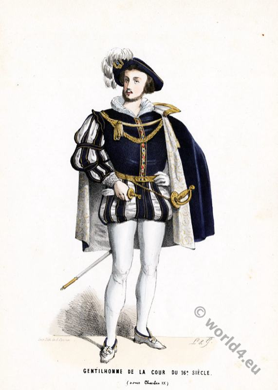 fashion history, Renaissance, Gentleman,  court, dress