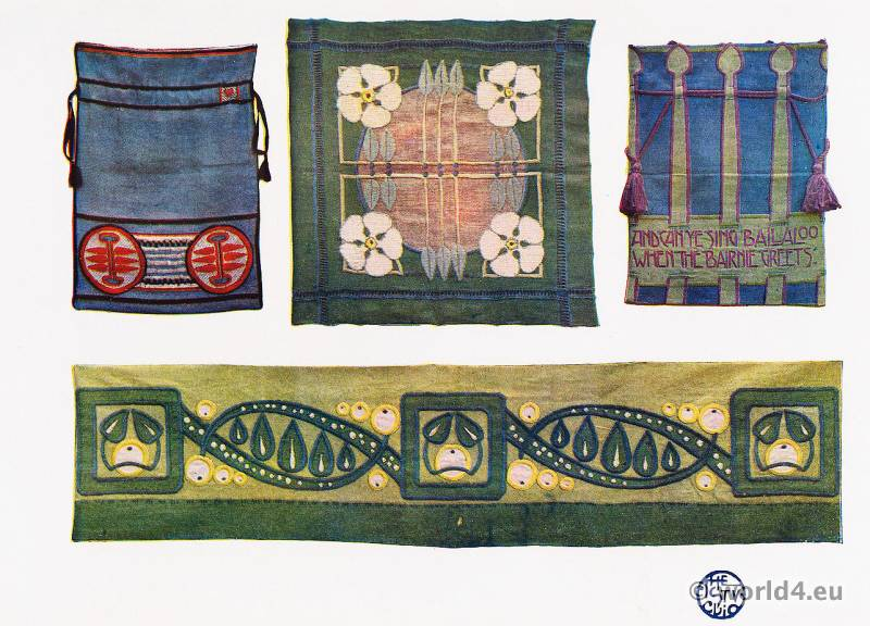 Ann Macbeth, Art Nouveau, Embroideries, Modernist, Needlework,