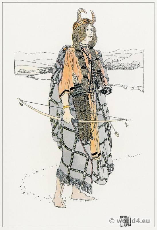 Ann Macbeth, Huntress, Art Nouveau, Embroideries, Modernist, Needlework,