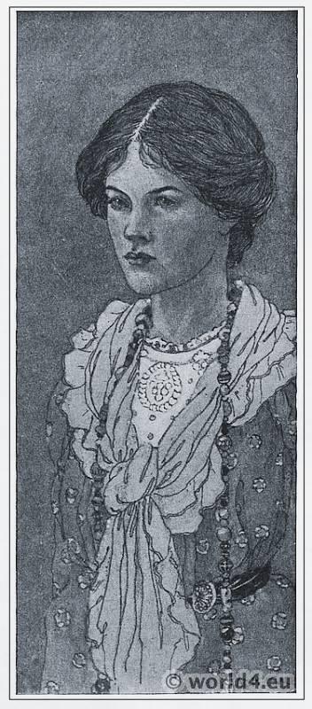 Ann Macbeth, Portrait, Art Nouveau, Embroideries, Modernist, Needlework,