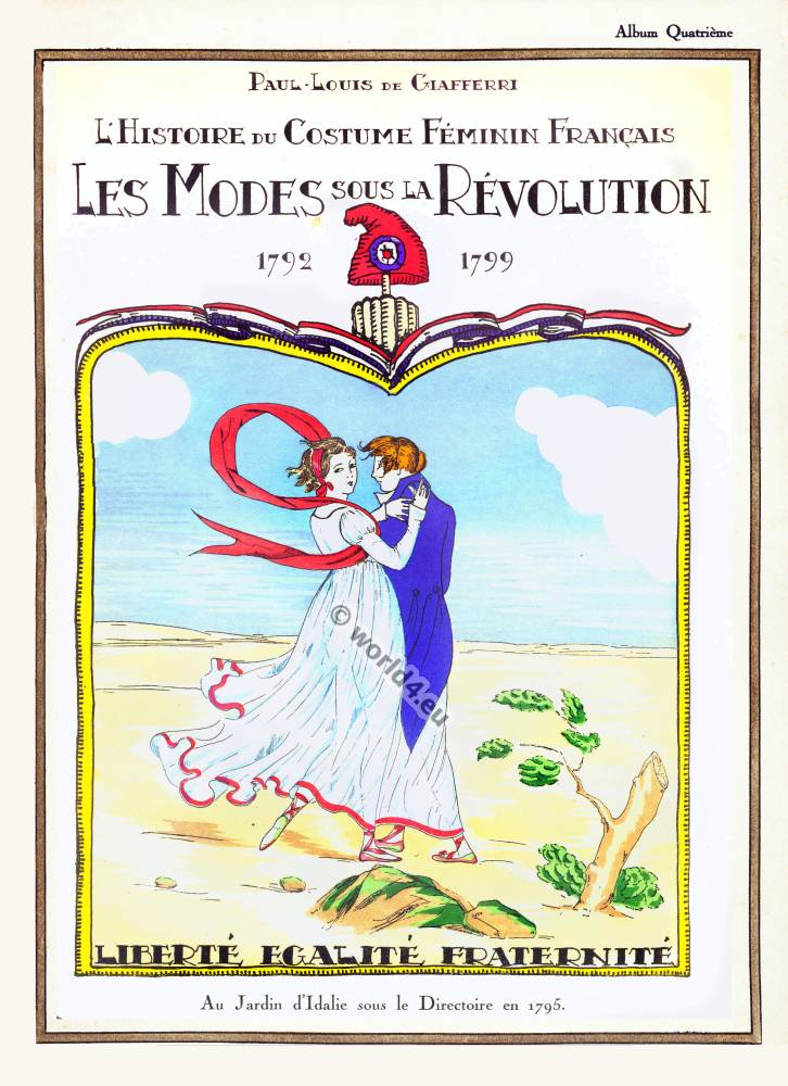 French Revolution Merveilleuses costumes. Directory clothing. Directoire fashion. Regency gowns