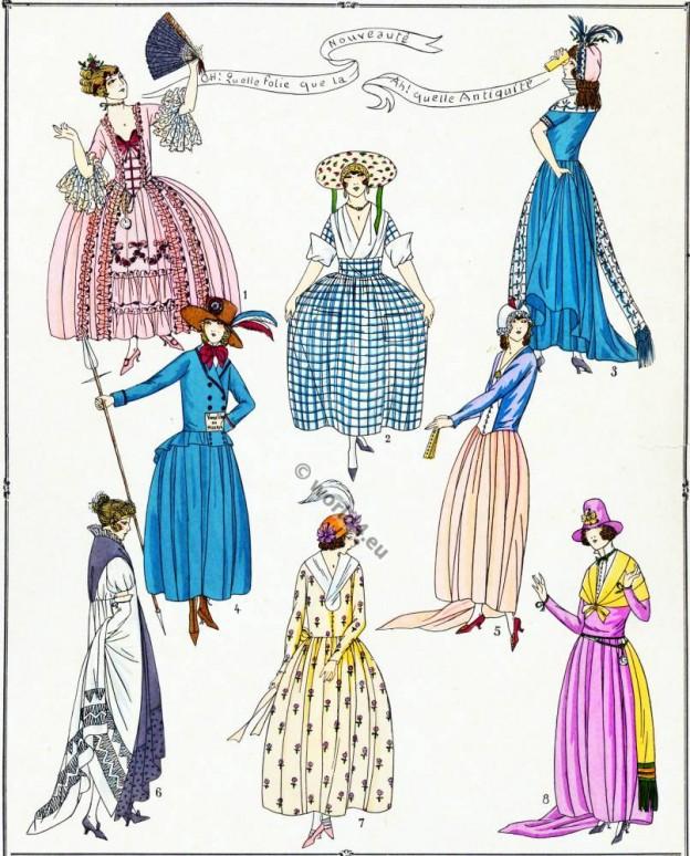Élégantes, Modes, Revolution, Tallien, Hamelin, Récamier, Charlotte Corday, Cabarrus, princesse, Lamballe,