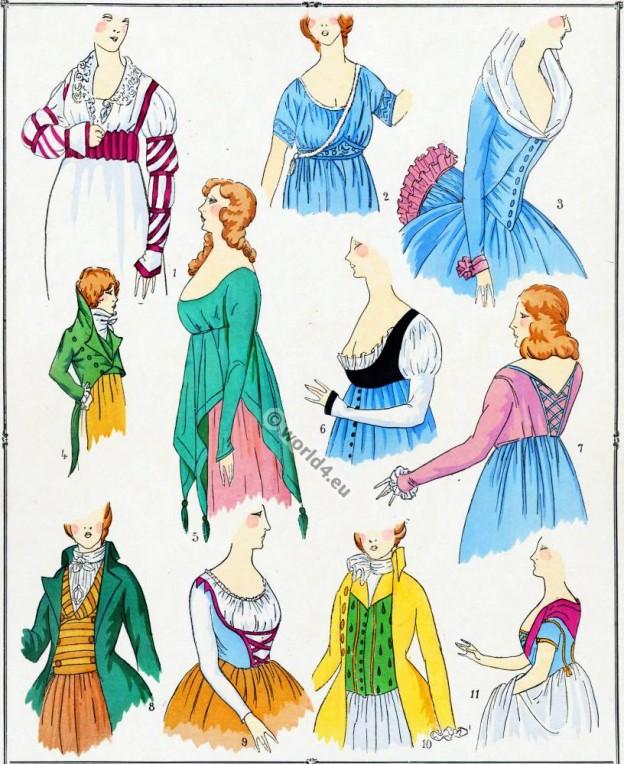 Modes, Revolution, Corsages, costume, français,