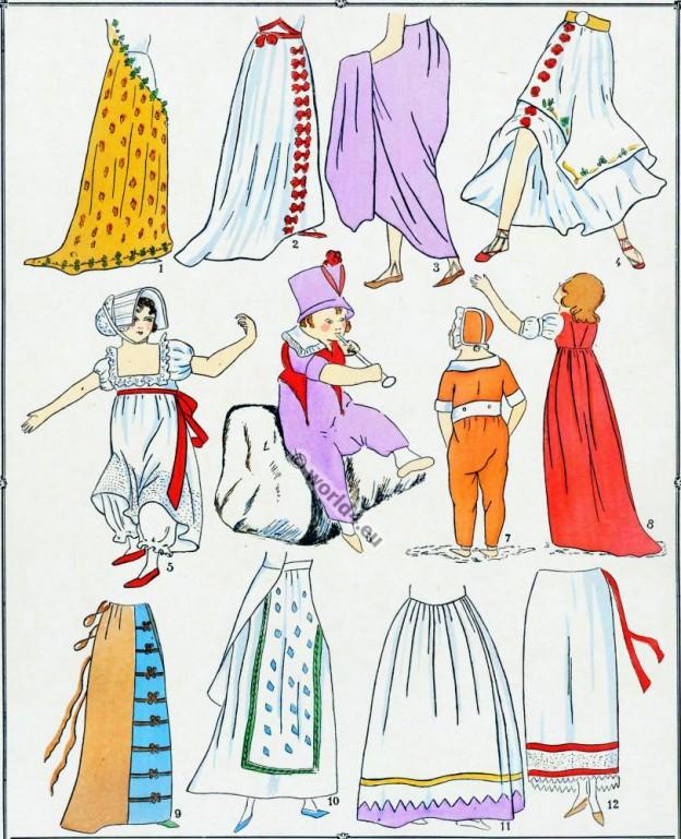 Modes, Revolution, Costume, Jupes, français,
