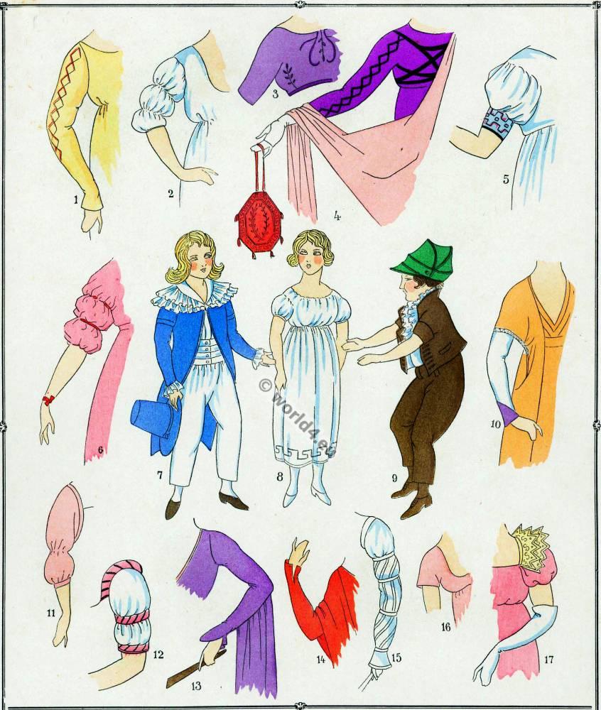 Modes, Revolution, Manches, Costume, français