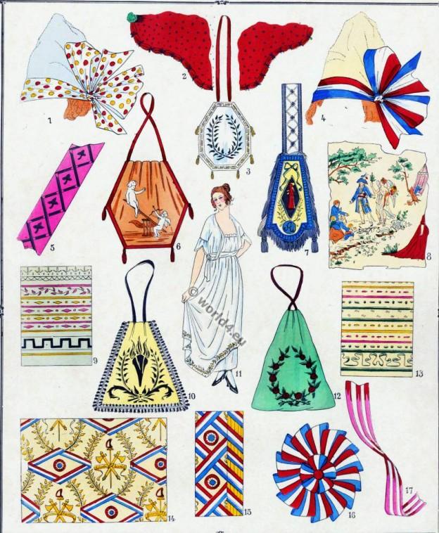 Broderies, Modes, Revolution, costume, français,