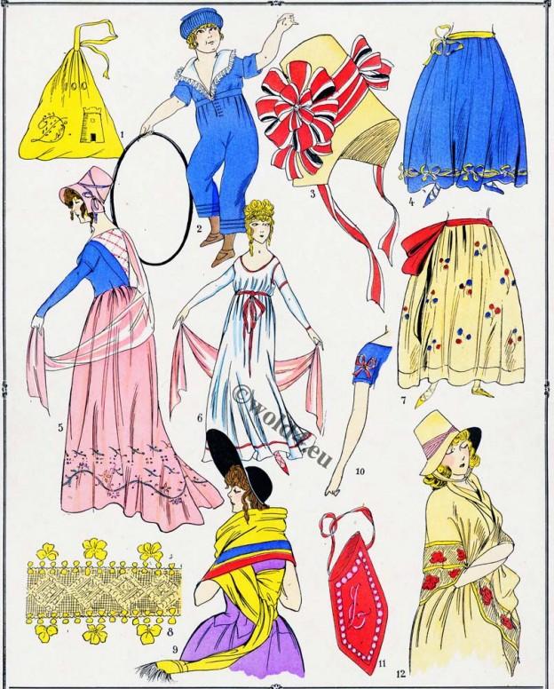Étoffes, Modes, Revolution, Costume, français
