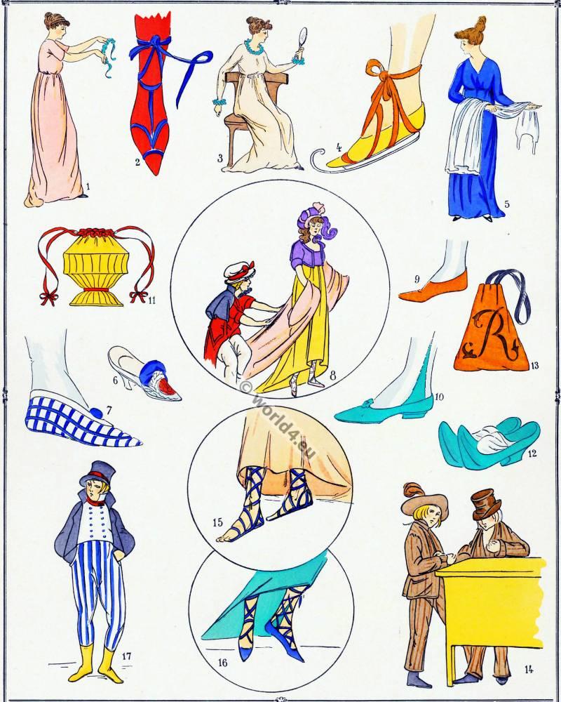 Chaussures, Modes, Revolution, Costume, français