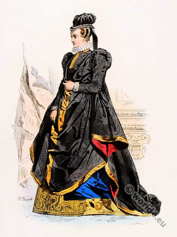 fashion history, Renaissance, court, dress