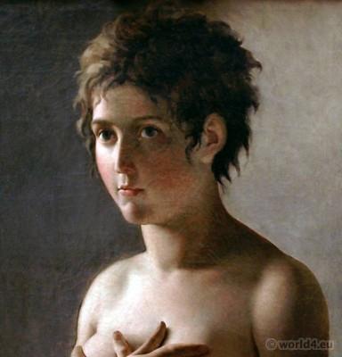 Merveilleuse, Hair à la titus, French, Revolution, hairstyle,