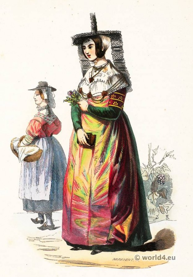 Macon, Bresse, clothing, Traditional, French national costumes,