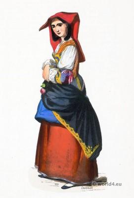 Salerno, folk, costume, Traditional, Italy, costumi, nazionali, tradizionali italiani,