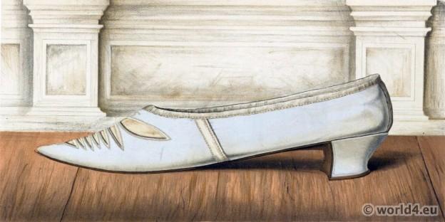 18th century, rococo, shoe, baroque, fashion