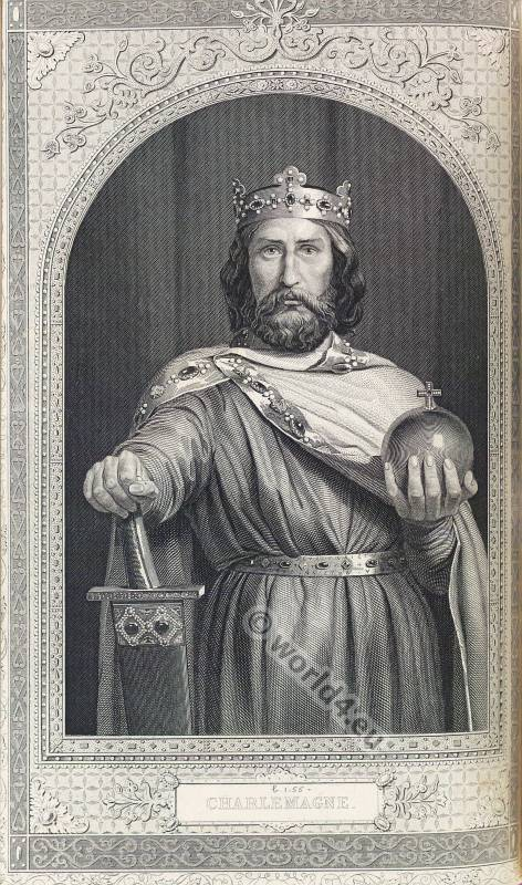 Charlemagne. Karolus Magnus. Medieval King. Carolingian Costume. Frankish clothing