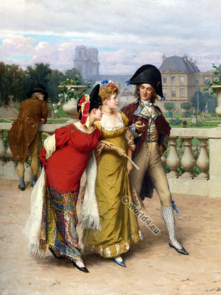 Incroyable, Merveilleuses, French revolution, fashion,