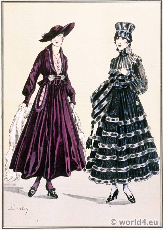 Jeanne Lanvin. Le style parisien. Art deco fashion magazine. French parisiennes collection haute couture