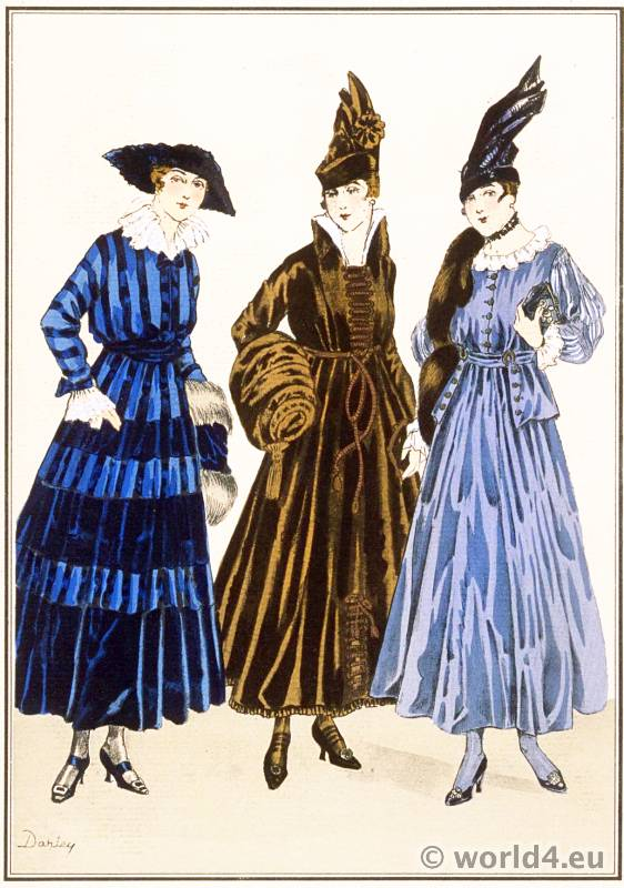 Tissus de Rodier. Le style parisien. Art deco fashion magazine. French parisiennes collection haute couture