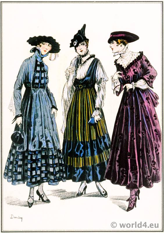 Brocaded gowns rift velvet. Le style parisien. Art deco fashion magazine. French parisiennes collection haute couture.