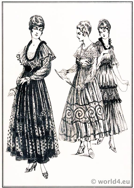 Diner Dresses. Le style parisien. Art deco fashion magazine. French parisiennes collection haute couture