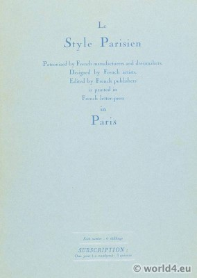 Le style parisien. Art deco fashion magazine. French parisiennes collection haute couture.