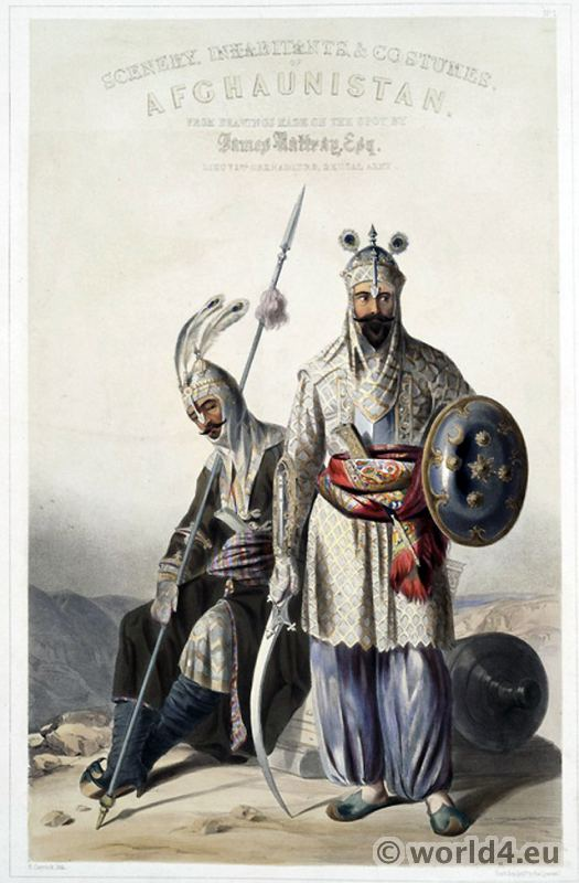 Douraunee, Chieftains, Afghanistan, National, Costumes,