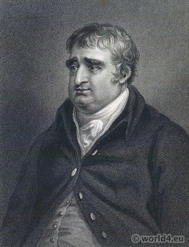 Portrait Charles James Fox. French Revolution History. English 18th century costume