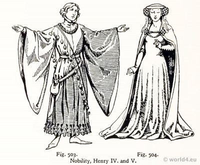 Medieval, costumes, crespinette, cauls, fashion