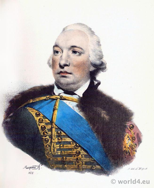 Portrait Philippe Égalité. French Revolution History. 18th century costume