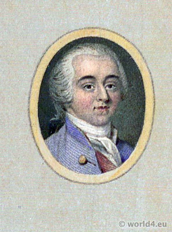 Portrait Louis Philippe II, Duke of Orléans, Duke of Chartres. French Revolution History costume