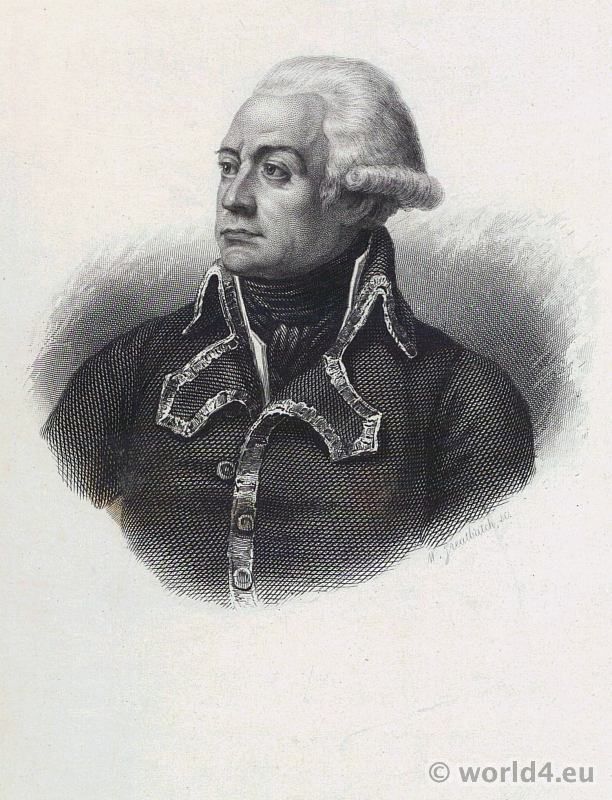 French Revolutionary Wars. Portrait General Charles-François Dumouriez. French Revolution History. Military costume