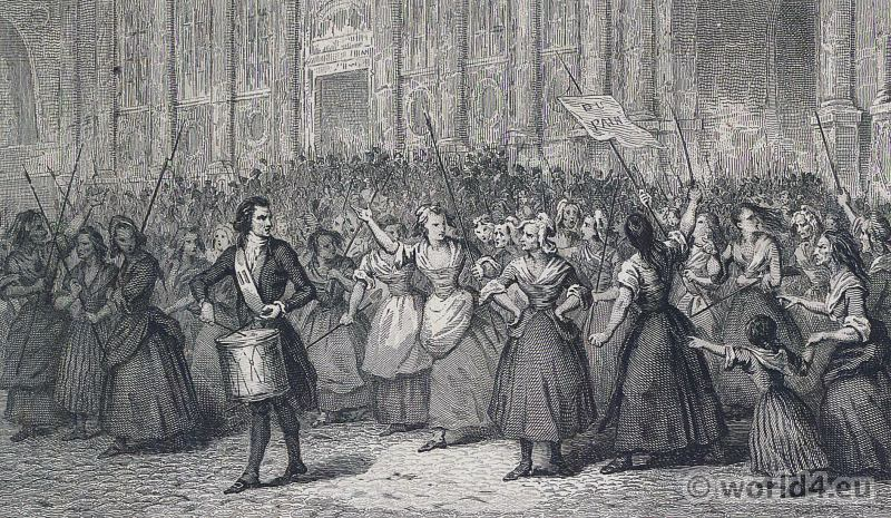 Women's, March, Versailles, Stanislas-Marie Maillard, French, revolution, history,