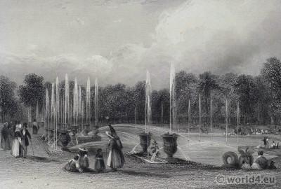 Garden, Versailles, Royal, château, Louis XIV, palace, France,