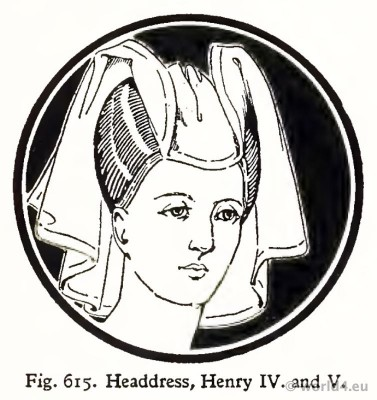 Reticulated, headdress, crespinette, cauls, middle ages, fashion