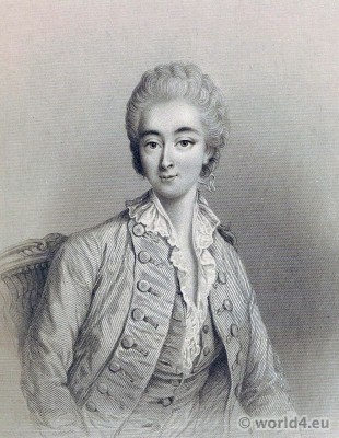 Portrait Comtesse du Barry. French Revolution History. Directoire costume