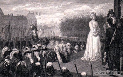 Marie Antoinette, Execution, guillotine, French revolution, execution