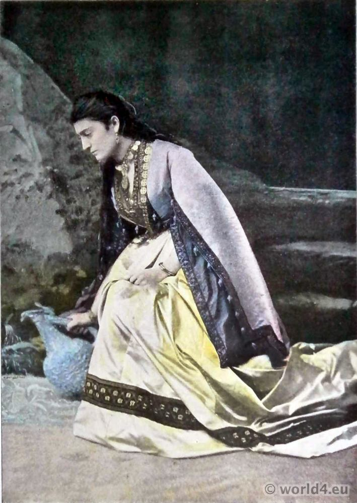 Megrelia, Georgia, dress, woman costume,