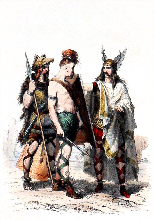 Guerrier mérovingien. Costume du 5ème siècle