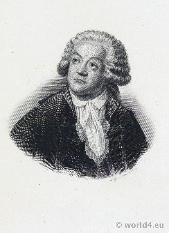 Mirabeau. Portrait French Revolution History. Politician. Directoire costume