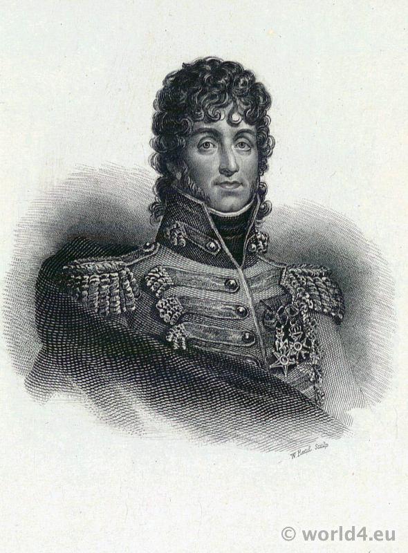 Joachim-Napoléon Murat. Portrait French Revolution History costume