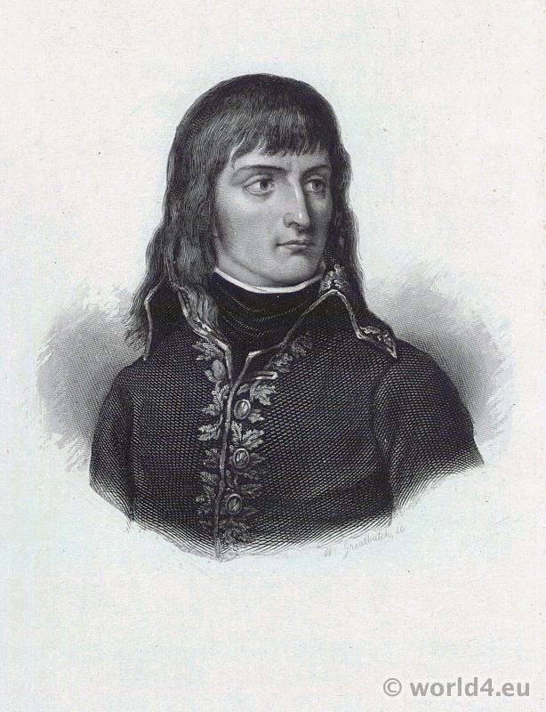 Emperor Napoléon Bonaparte as Consul. Portrait French Revolution History costume