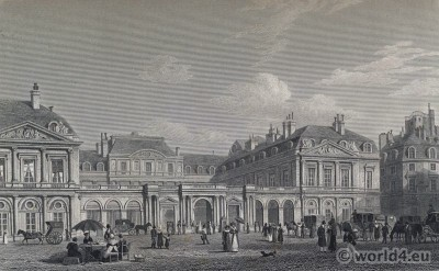 Paris, Palais Royal, Palais-Cardinal, Louis XIV, French, Architecture
