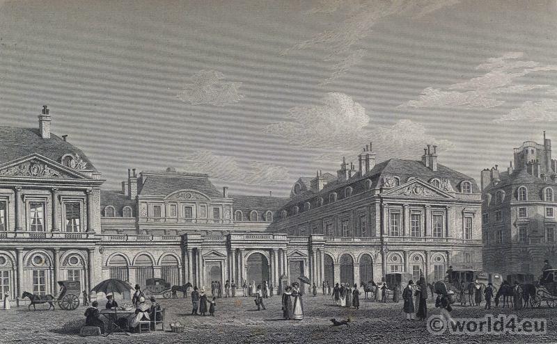Paris, Palais Royal, Palais-Cardinal, Louis XIV, French, Architecture