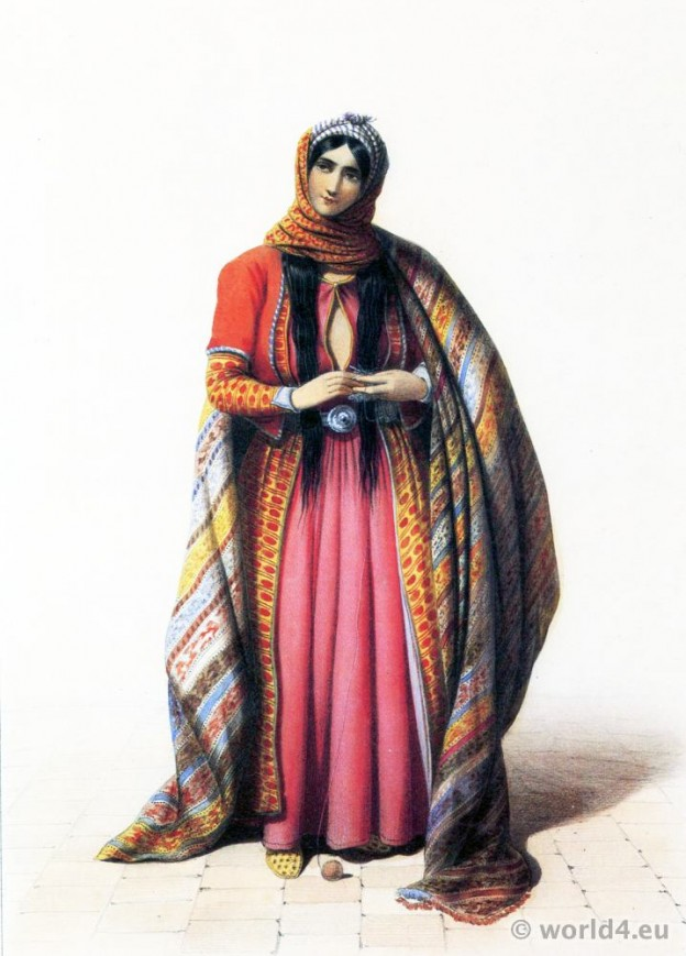 Old Persia costume. Traditional Iran dress