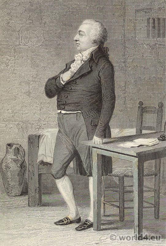 Philippe Égalité. Louis Philippe II, Duke of Orléans. Portrait French Revolution History costume.